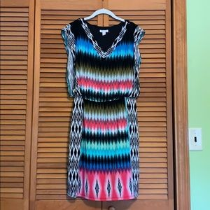 Colorful and comfortable London Times dress!